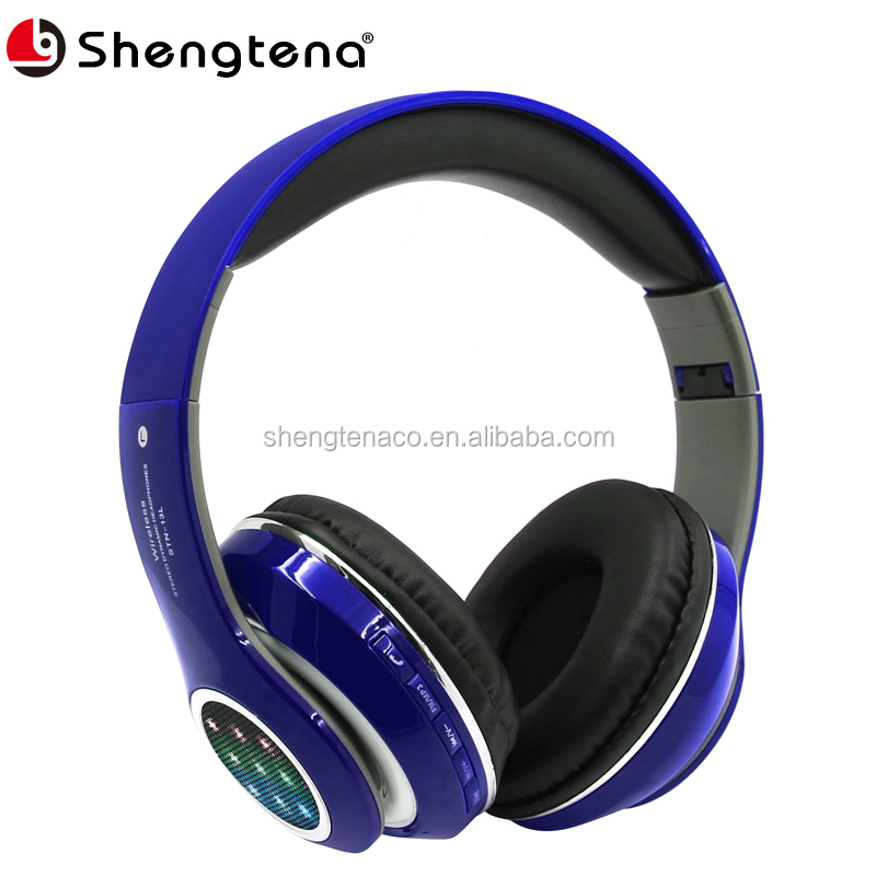 headphone factory wireless headphone bluetooth with led light