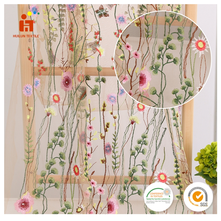 China Factory Flower Natural Romantic Embroidered French Wedding 3d Embroidery Lace Fabric