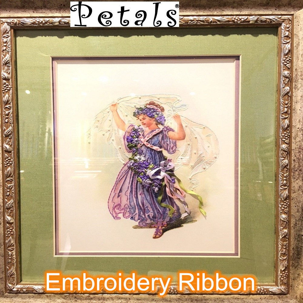 Petals polyester taffeta DIY craft ribbon embroidery kits for perfume