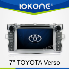 7 inch touch screen 2 din in dash car stereo for toyota verso with dvd gps bluetooth ipod swc
