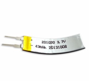 OEM Ultra thin Curved Battery 201030 3.7V 43mAh Lipo Rechargeable Battery for Fitness Band