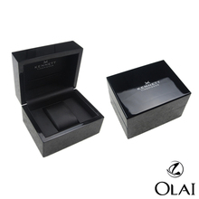 Custom MDF black watch gift box, lacquered wooden watch gift Packaging Box, Popular Black Lacquered Single Wooden Watch Box