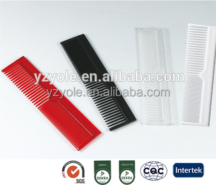 Hotel use and plastic hair comb
