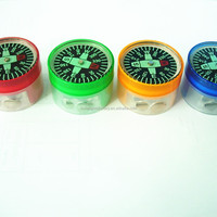 Plastic Funny Pencil Sharpener With Compass