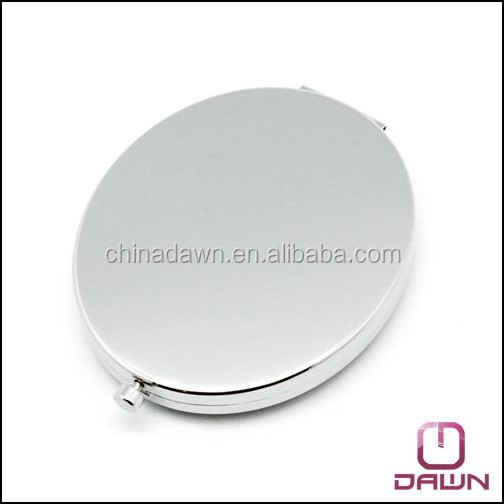 metal oval pocket makeup mirror with epoxy doming factory CD-MG079