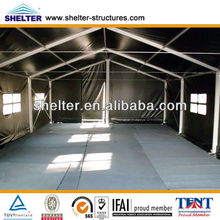 8x9m Used Temporary Aluminum Structure Army Green Military Camp House Frame Style Shelter Tents for Sale