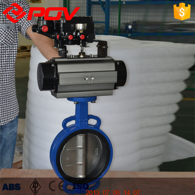 Positioner Casting iron DN80 pneumatic butterfly valve