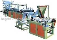 Ribbon-through continuous-rolled bag machine/garbage bag/bag making machine