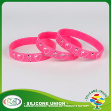 custom silicone wristband/bulk cheap silicone rubber bracelet/personalized wrist rubber bands