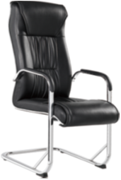True seating concepts leather executive PU swivel office chair no wheels