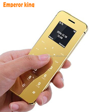 Ulcool V36 dual SIM card Ultrathin credit card cellphone metal body bluetooth 2.0 dialer anti-lost FM mp3 mini mobile phone