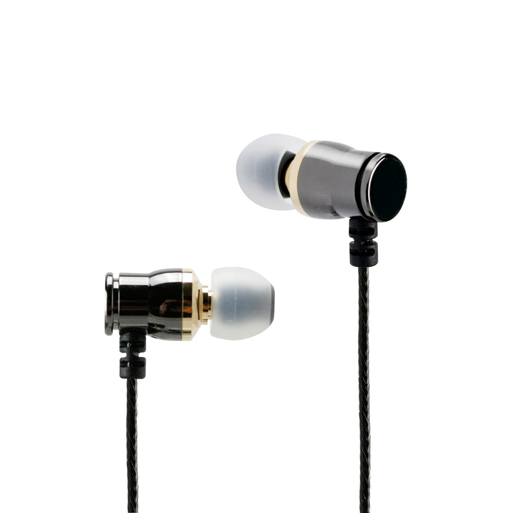 In-Line Mic/Remote Metal Black/Chrome universal in-ear monitors