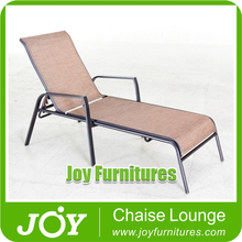 Aluminum Sling Mesh Fabric Stacking Chaise Lounge