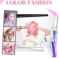 9 colors hair chalk Fashion Non-toxic Temporary Pastel Hair Chalk Yiwu Manufacture Colorful Hair Chalk Pen for Temporary