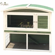 deluxe easy-cleaning handmade wood rabbit hutch