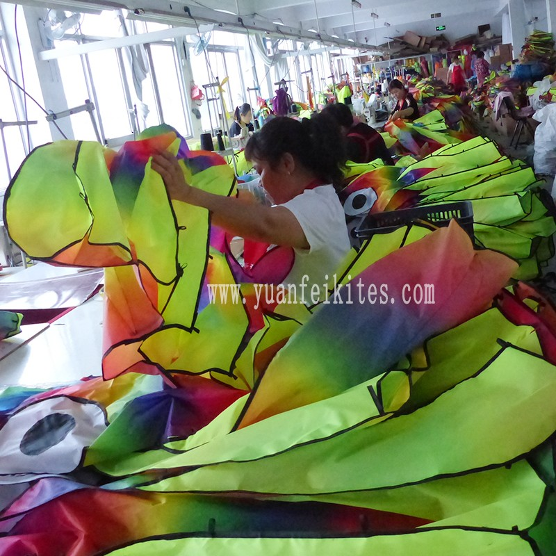single line 5 m large rainbow color octopus