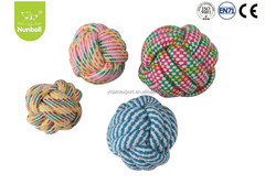 Hot Sale product pet chew toy cotton material rope ball dog toy