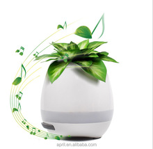 New desk magic music flower pot bluetooth speaker inside table plant pots