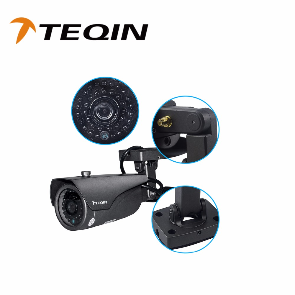 2016 TEQIN H.264 Video Compression Outdoor HD 720P CCTV Wireless Surveillance IP Camera WIFI For Home Security Monitoring System