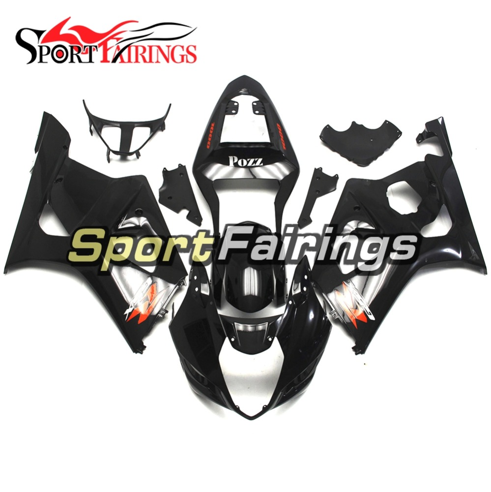 Gloss Black Injection Fairings For Suzuki GSXR1000 K3 03 04 ABS Plastic Complete Motorcycle Fairing Kit Body Kit Fitings