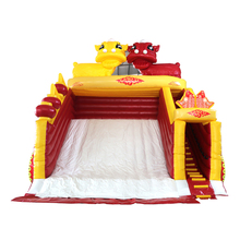 Newest design outdoor giant china red inflatable slide for sale 2018