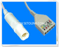 Siemens Draeger 8 Pin ECG Trunk Cable Manufacture in ShenZhen