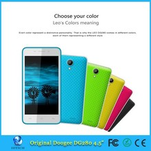 Original Doogee LEO Dg280 5 Inch IPS Mtk6582 Quad Core Android 4.4 Mobile Cell Phone 1GB RAM