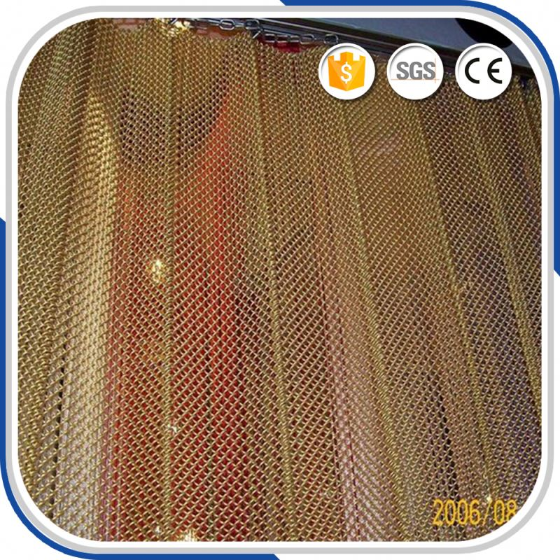 Chinese Credible Supplier metal coil draperies fabric for walls