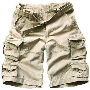 Mens Vintage Washing Cargo Short Pants (beige) Er.cg001 - Buy ...