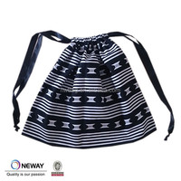 black color cotton dust bag for handbag,cheap printed dust bag cotton drawstring,high quality printed drawstring calico pouch