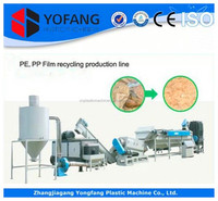 used /waste pp/pe bags/film crusher washing recycling production line