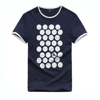 Dark blue simple design men T Shirt China clothing manufacturing companies