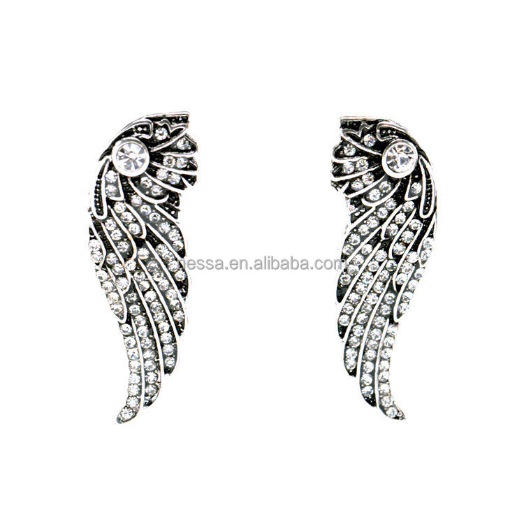 fashion angle wing fancy stud earring wholesale E533