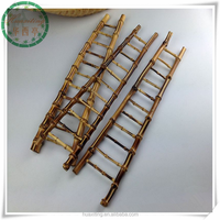 Home decoration ornaments Mini bamboo root ladder