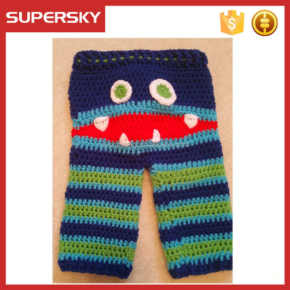 Crochet Pattern Baby Monster Pants : A-1413 Infant Monster Pants Crochet Patterns Baby Pants ...