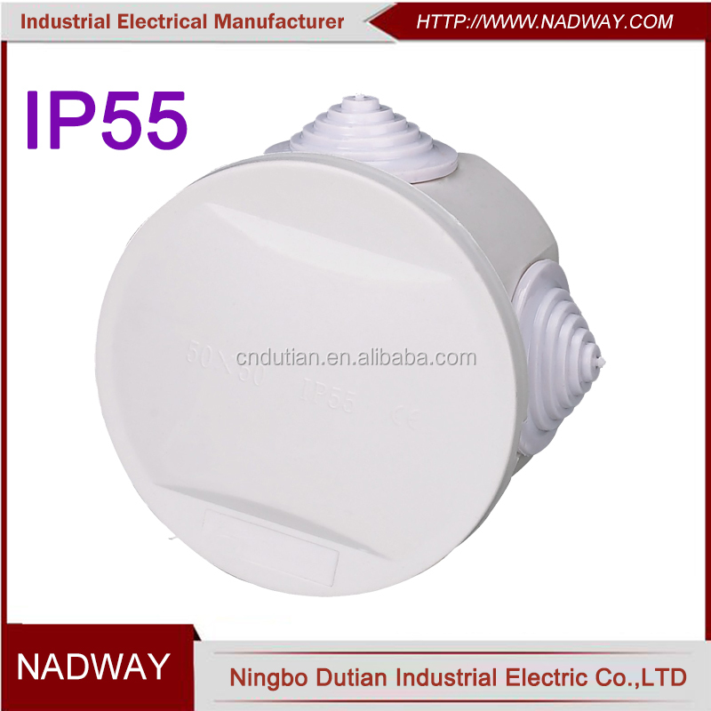 50*50mm IP55 round electrical mini small electrical junction box