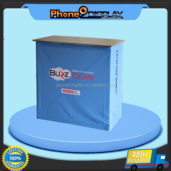 Full printing supermarket product display aluminum frame portable counter