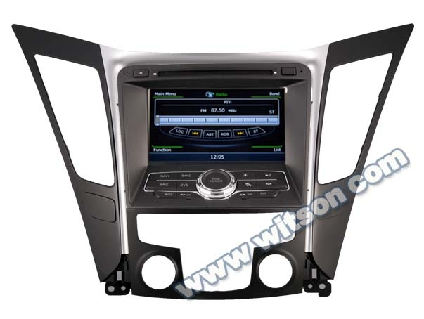 WITSON HYUNDAI NEW SONATA 2011 car dvd player radio WITH A8 CHIPSET DUAL CORE 1080P V-20 DISC WIFI 3G INTERNET DVR SUPPORT