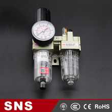 SNS high quality Air source treatment Unit AC Series (Two Union) ,festo pneumatic filter regulator lubricator ,F.R.L unit