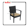 SHINYGARDEN Patio Resin Outdoor Garden Deck Wicker Arm Chair