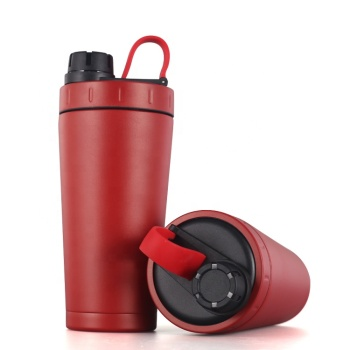 New design 750ml stainless steel shaker bottle thermal water bottle