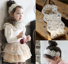 X60520A New Girl flower pattern lace Design Elastic baby hair accessories Stylish Children Hairbands