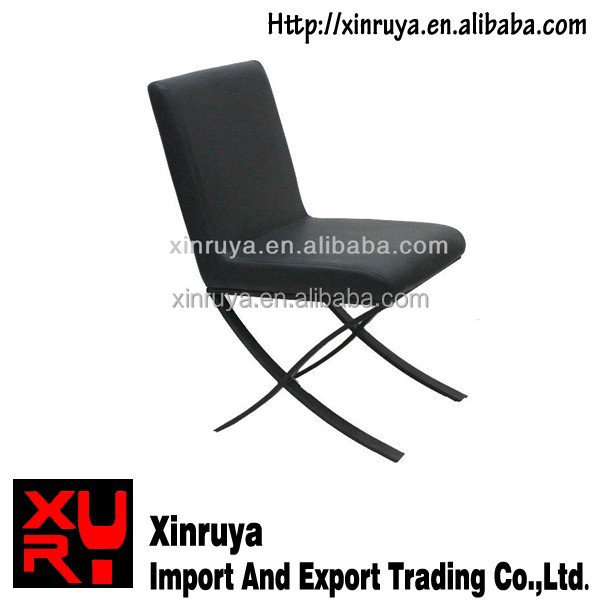 clearance furniture wholesale z shape black leather metal dining chair
