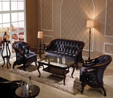 Hot sell bent wood leather european style sofa set for living room