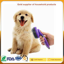 Hertzko Pet Dog Grooming Hair Self Cleaning Slicker Brush