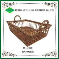 Wholesale cheap wicker bread baskets charger plates wholesale rattan