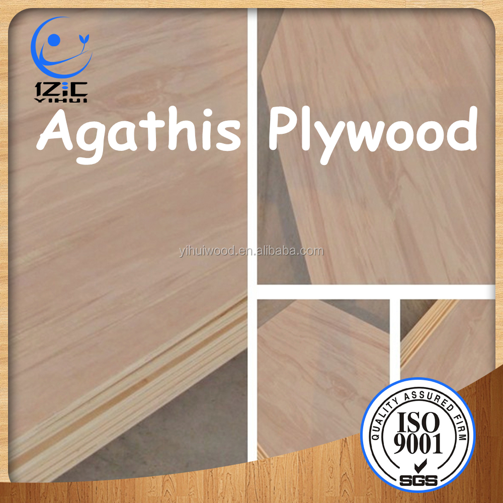 14MM Natural Wood Veneer Commercial Plywood Agathis Veneer Faced Plywood