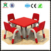 Cheap plastic round tables used preschool furniture for sale(QX-193D)