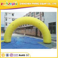 Pure yellow one advertising inflatable archway, entrance arch door