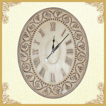 Yunfei oval shaped country style wall time clock
